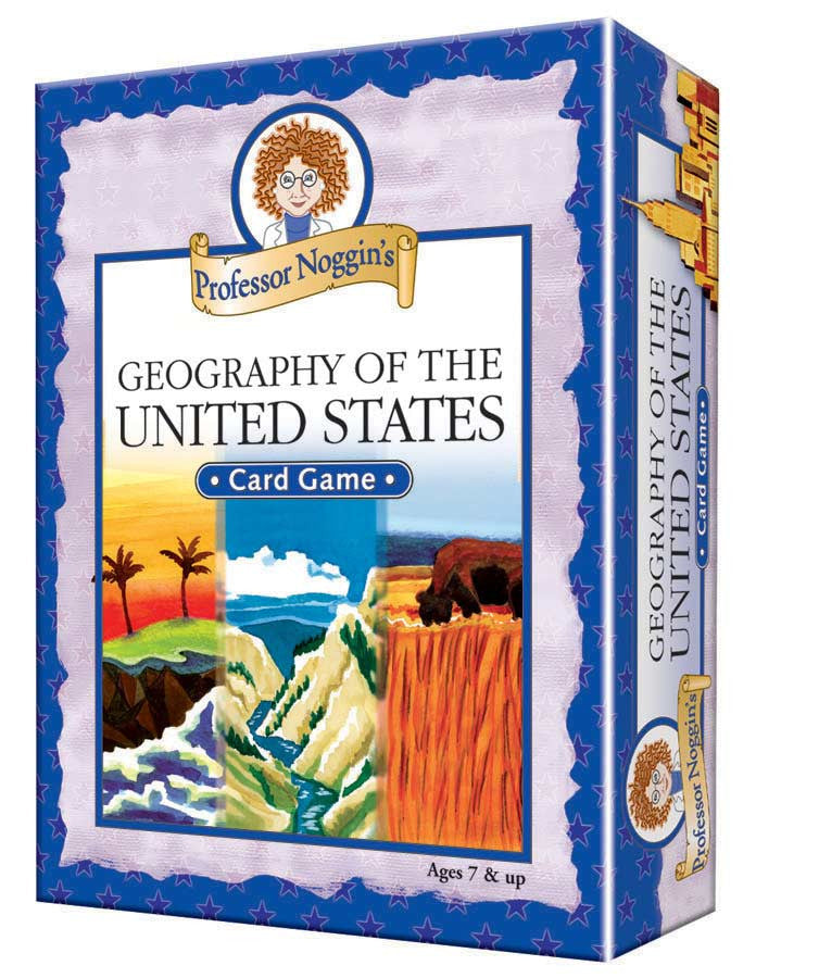 Geography of the United States Professor Noggin's Card Game