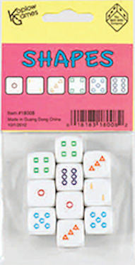 Shapes Dice D6 16mm - EducationalLearningGames.com