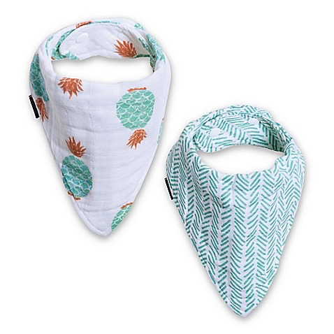 MUSLIN BANDANA BIB SET OF TWO