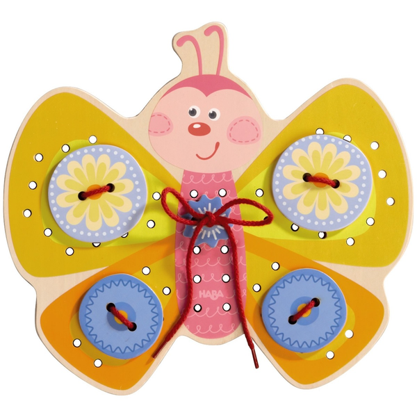 HABA WOODEN BUTTERFLY THREADING GAME