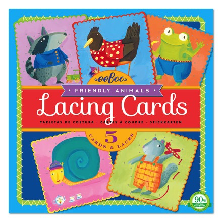 FRIENDLY ANIMAL LACING CARDS