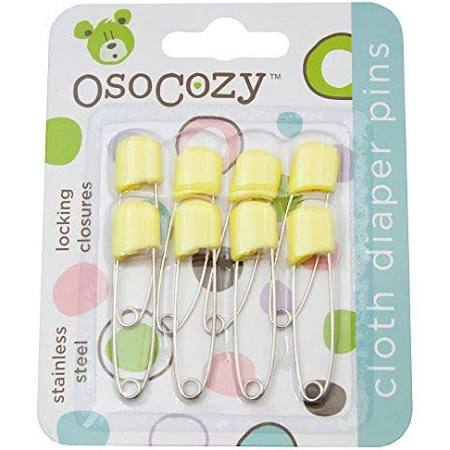 OsoCozy Cloth Diaper Pins 8 pack