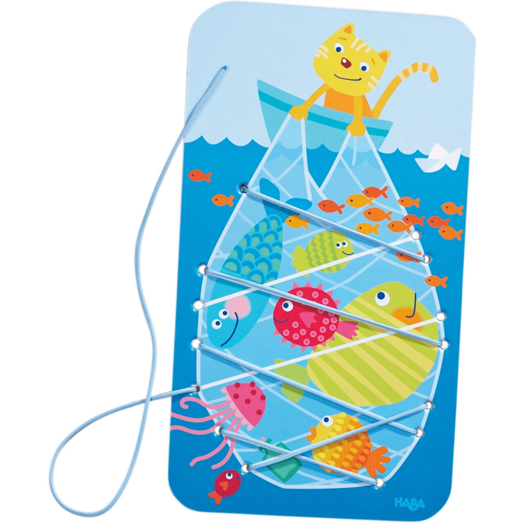 HABA CATCHING FISH THREADING GAME