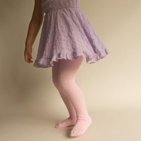 LITTLE STOCKING COMPANY CABLE KNIT TIGHTS