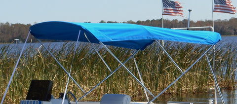 9' Standard Sunbrella Fabric Bimini Top Kit