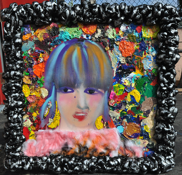 Just kissed  Mixed Media (collage & paint on photo foam board) by Chalavie