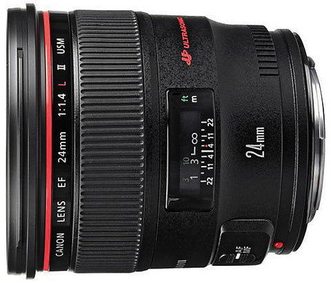 Canon EF 24mm f1.4L II USM (77mm) Lens *special-order - Photocreative (905) 629-0100