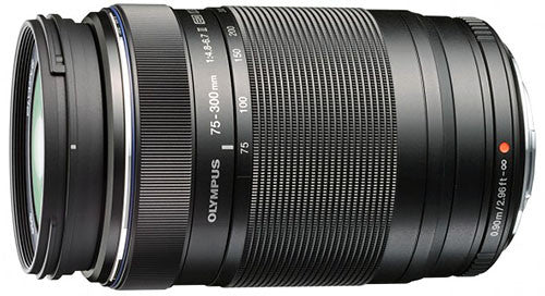 Olympus m.Zuiko ED 75-300mm f4.8-6.7 lens (Black) - Photocreative (905) 629-0100