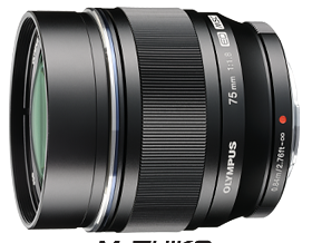 Olympus M. Zuiko 75mm f1.8 lens (Black) - Photocreative (905) 629-0100