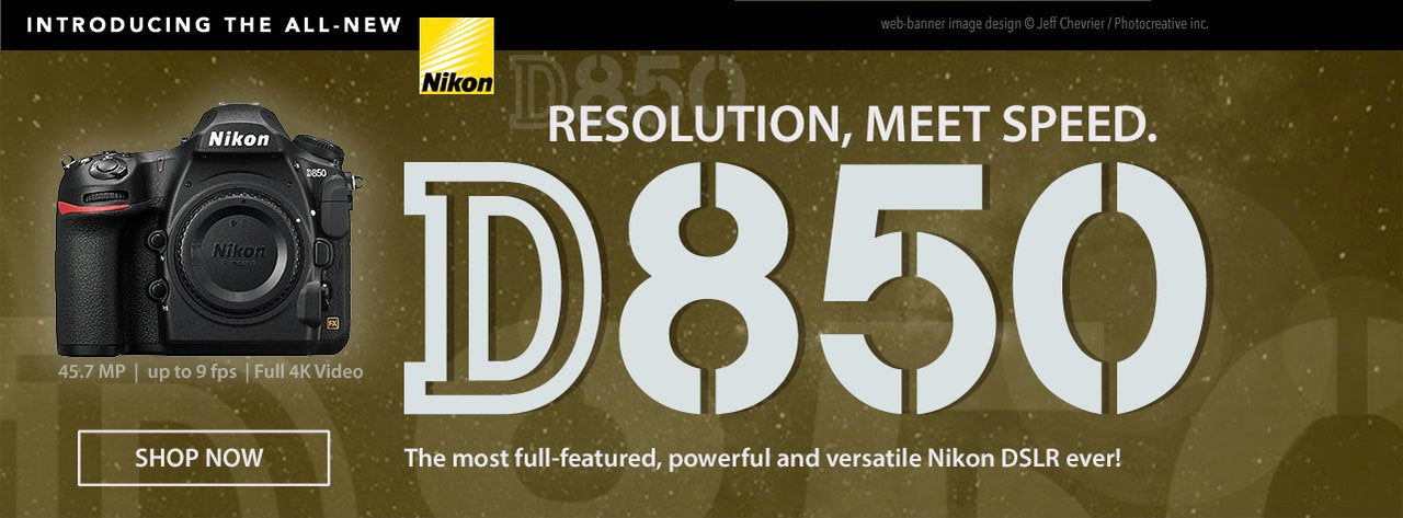 All new Nikon D850 at Canada's Photocreative.com in Mississauga, Ontario, Canada