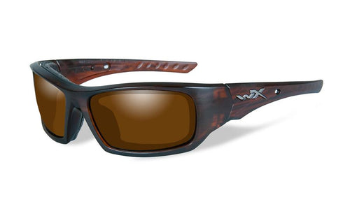 Wiley X Arrow, Polarized Amber Lens, Matte Layered Tortoise Frame - www.unitedruckerssupplycom