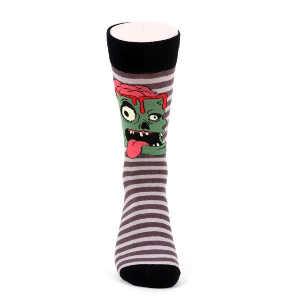 Men's Zombie Brains Novelty Socks