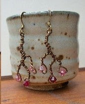 Branch Earrings w/Swarovski Crystals