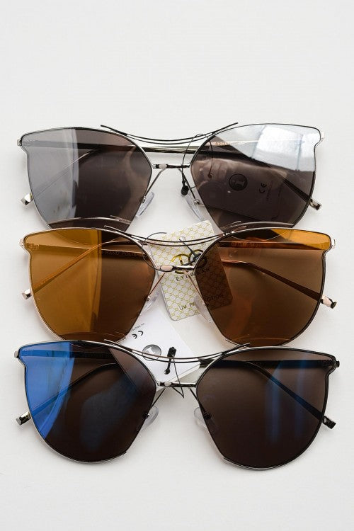 Metal Rimmed Sunglasses
