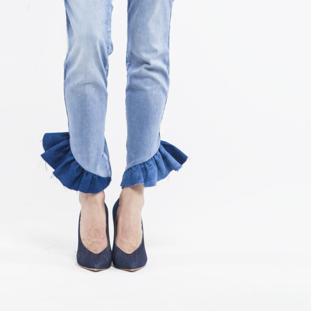 HOW TO - RUFFLE-UP YOUR JEAN / RUFFLE-UP TON JEAN