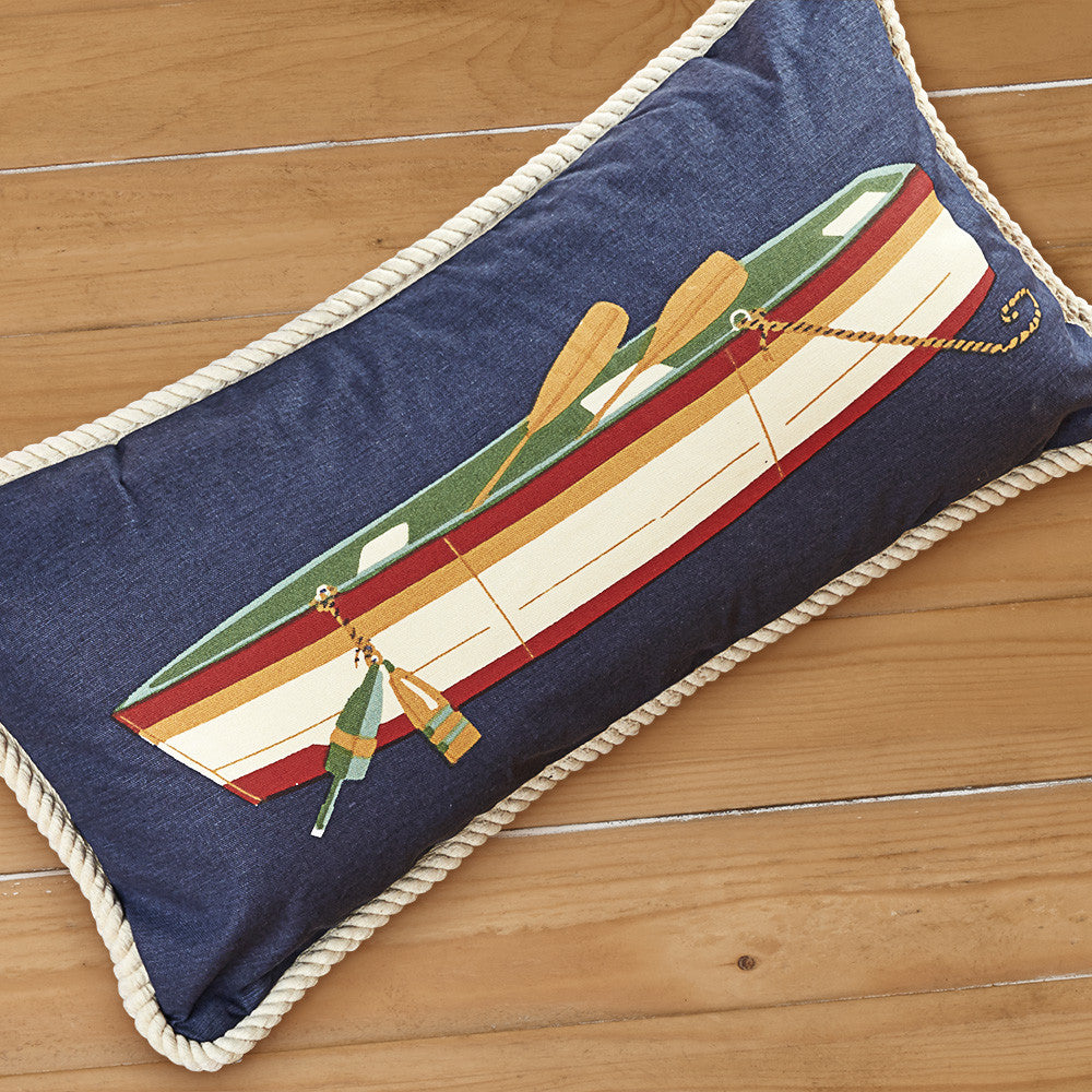 "Chandler 4 Corners 12"" x 24"" Canvas Pillow, Row Boat"