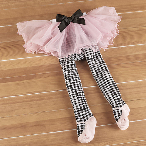 Houndstooth Tutu Tights