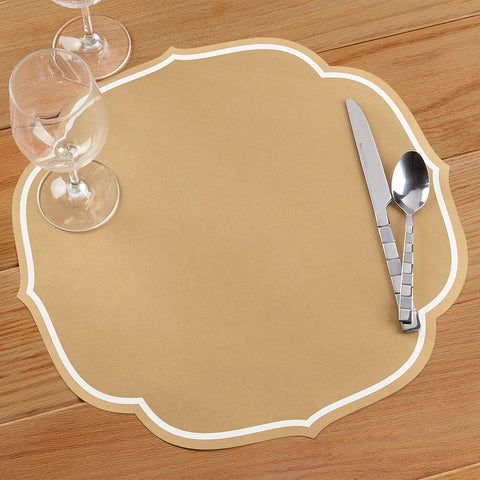 Hester & Cook Die Cut Paper Placemats, Gold Medallion