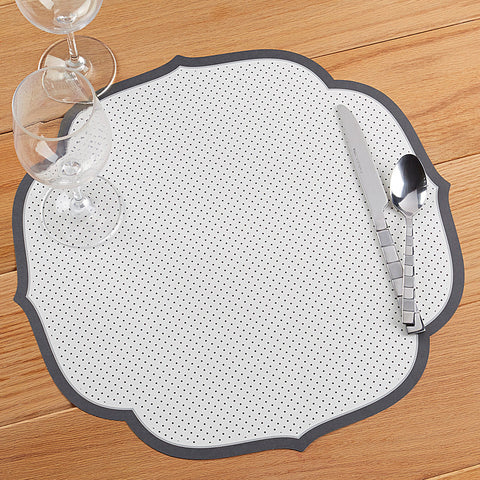 Hester & Cook Die Cut Paper Placemats, Swiss Dot Medallion