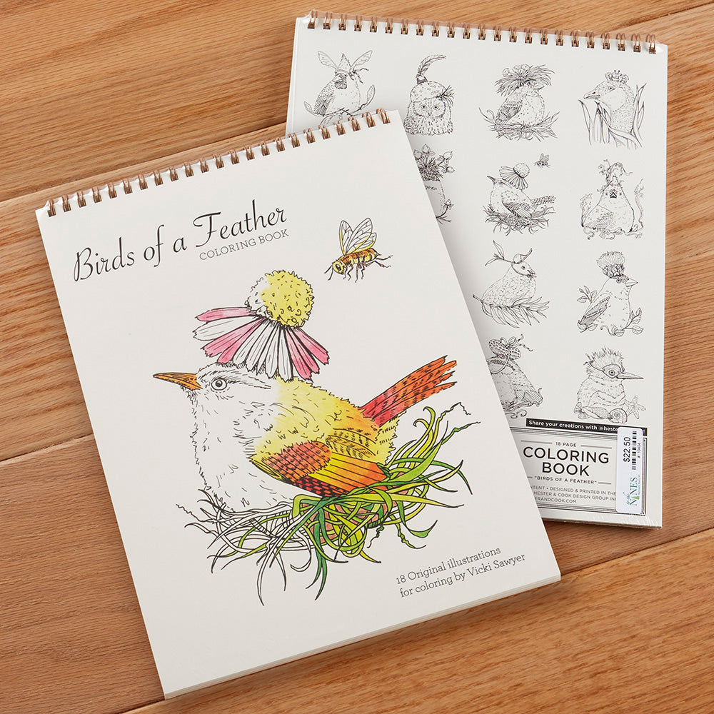 """Birds of a Feather"" Coloring Book"