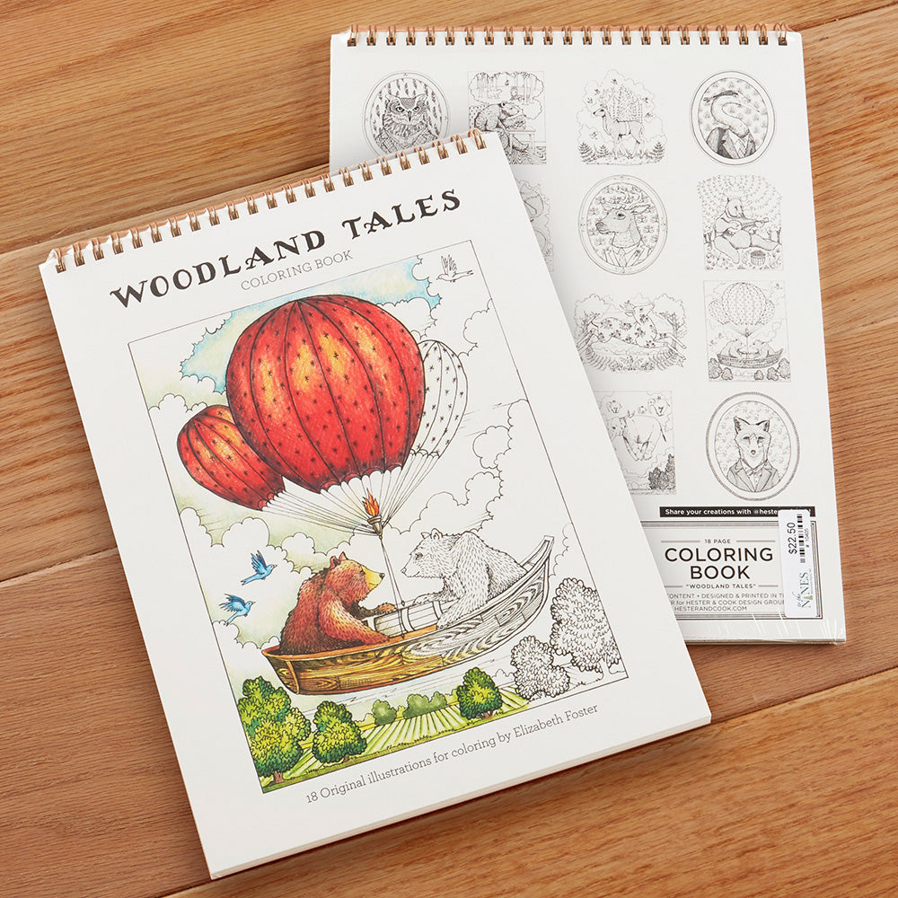 Hester & Cook Coloring Book, Woodland Tales