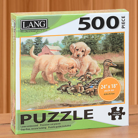 "500-Piece Fine Art Jigsaw Puzzle, ""Follow The Leader"" by Jim Lamb"