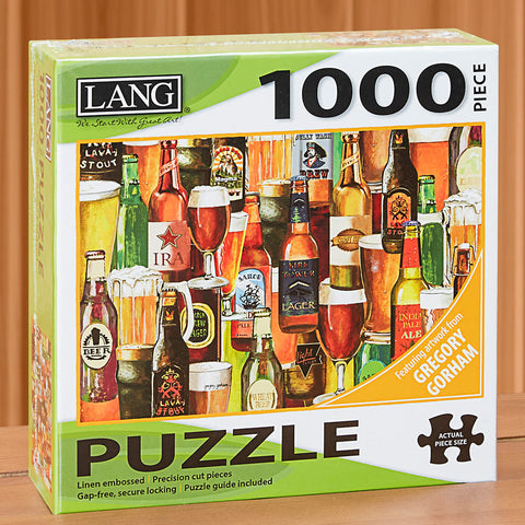 "1000-Piece Fine Art Jigsaw Puzzle, ""Crafted Brews"" by Gregory Gorham"
