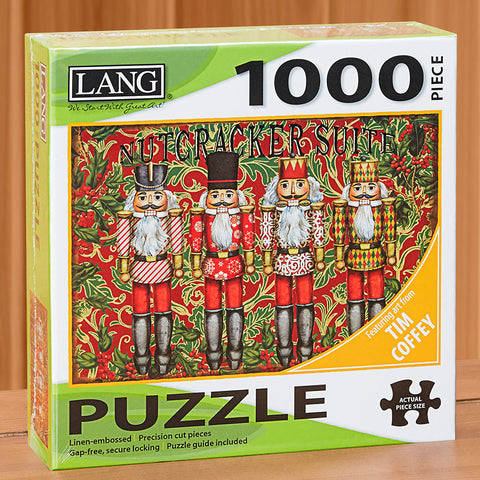 "1,000-Piece Fine Art Holiday Jigsaw Puzzle, ""Nutcracker Suite"" by Tim Coffey"