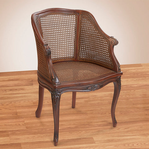 French Market Collection Inessa Arm Chair, Brown