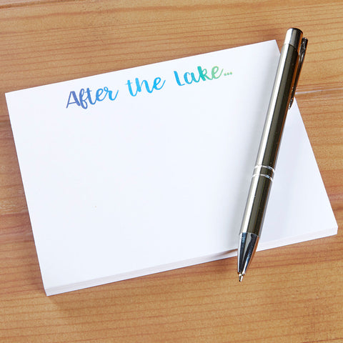 """After the Lake"" Notepad"