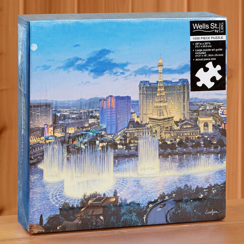 "1000-Piece Fine Art Jigsaw Puzzle, ""City Lights"" by Evgeny Lushpin"