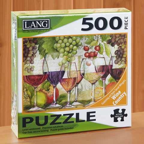 "500-Piece Fine Art Jigsaw Puzzle, ""Wine Country"" by Susan Winget"