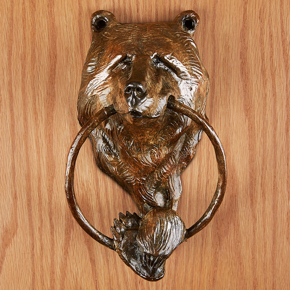 Bronze Bear Door Knocker by Walt Horton