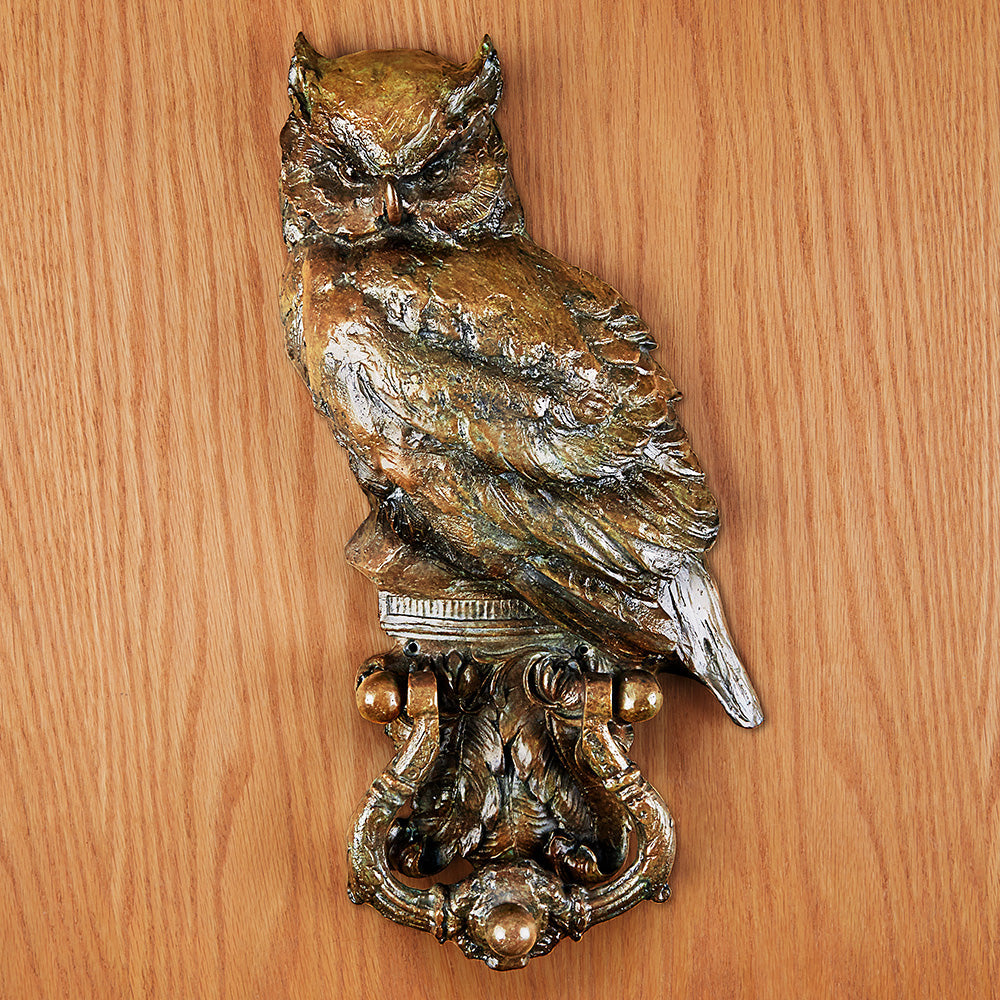 Bronze Owl Door Knocker by Sandy Scott