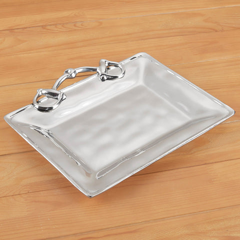 Petit Western Equestrian Aluminum Serving Tray by Beatriz Ball