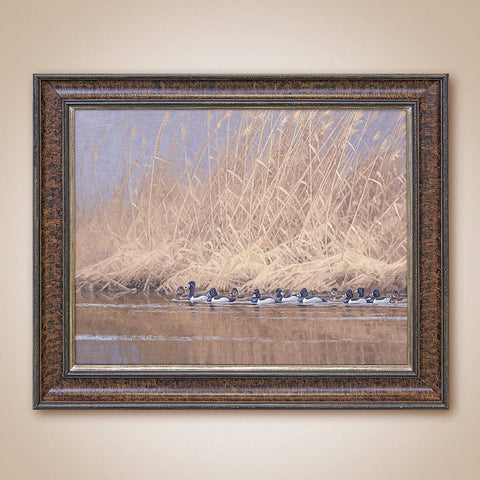 """Formal Procession, Ring-Necked Ducks"" Original Oil Painting by Jim Rataczak"