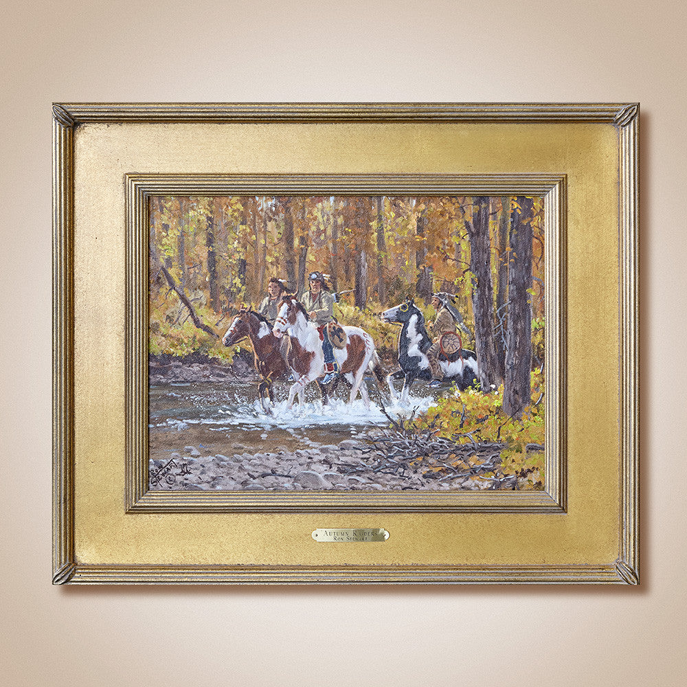 """Autumn Raiders"" Original Oil Painting by Ron Stewart"