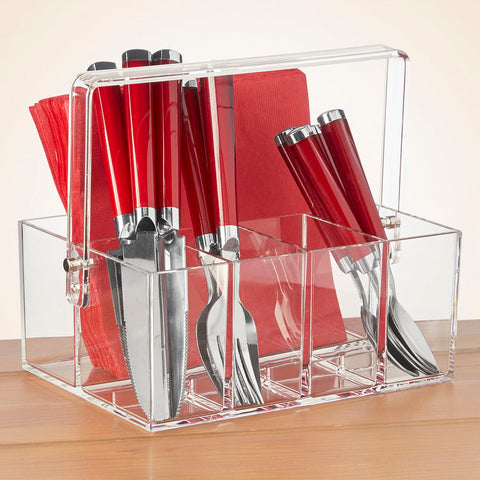 Grainware Acrylic Flatware Caddy