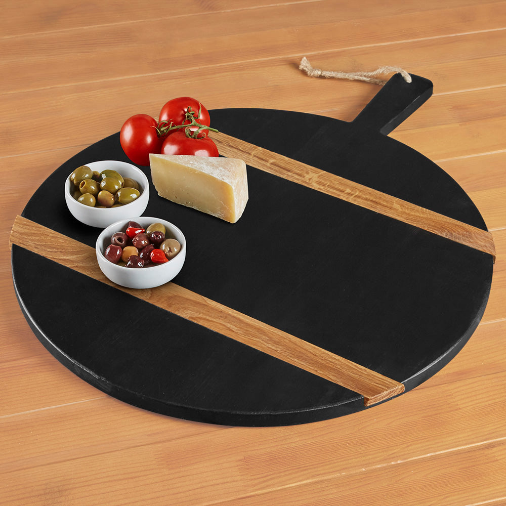 etúHOME Black Wood Serving Board