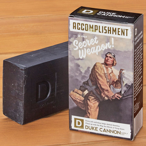 Duke Cannon WWII Big Ass Brick of Soap, Accomplishment
