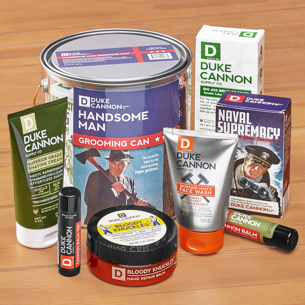 Duke Cannon Handsome Man Grooming Can Gift Set