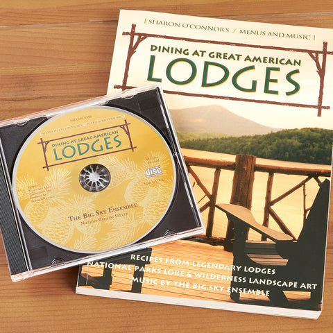"""Dining at Great American Lodges"" Cookbook and CD Gift Set"