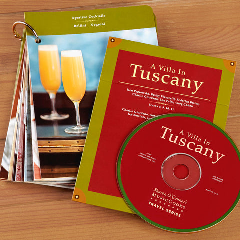 """A Villa in Tuscany"" Cooking Cards and CD Gift Set"