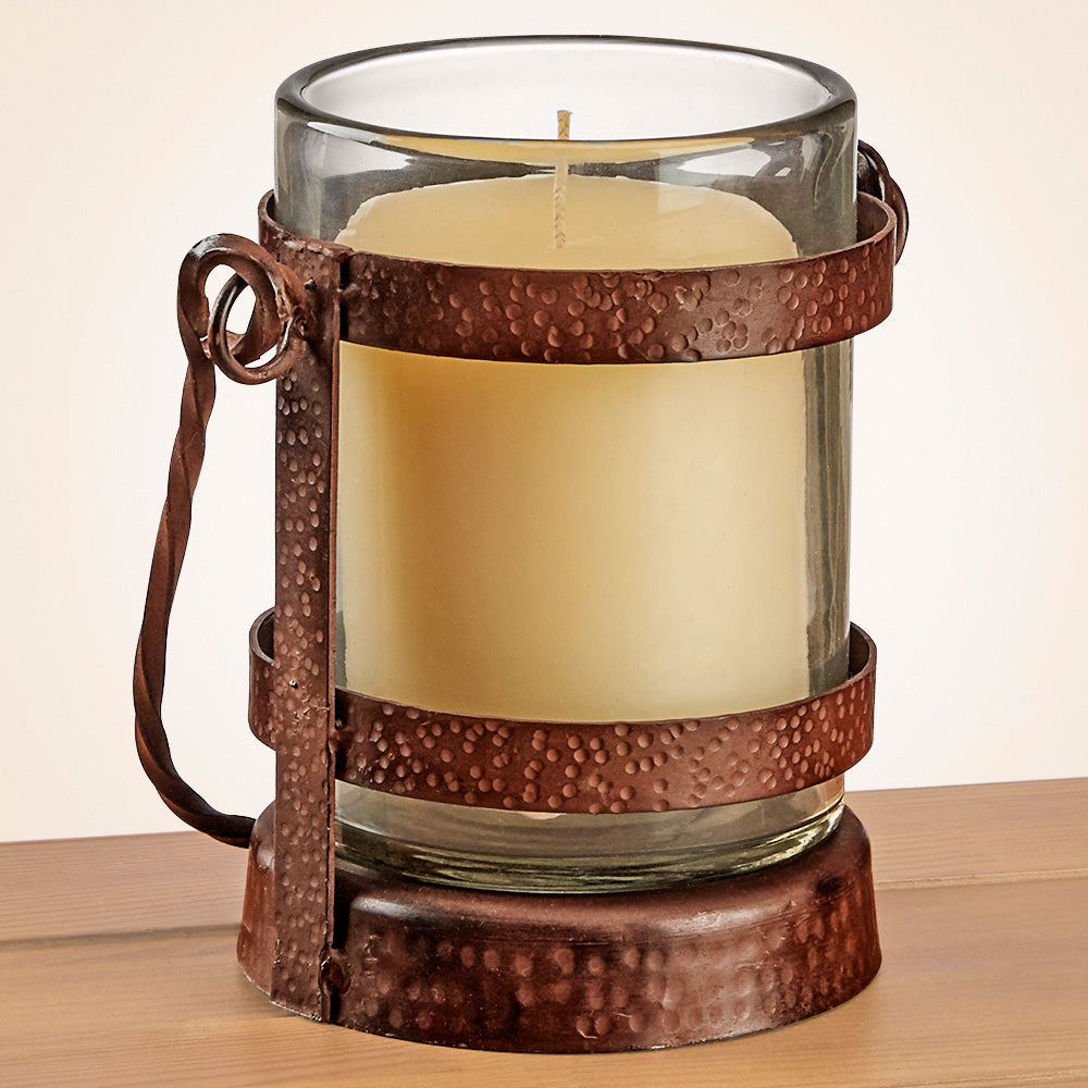 Glass and Iron Lantern Votive