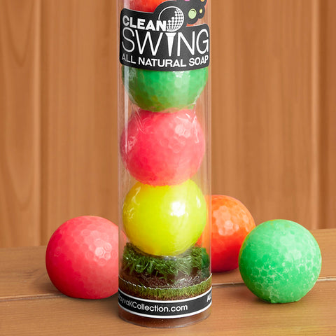 Scented Neon Golf Ball Soap Tube