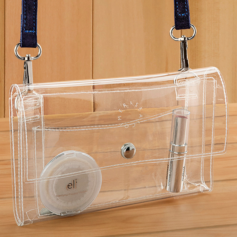 Mer-Sea Clear Vinyl Crossbody Stadium Bag