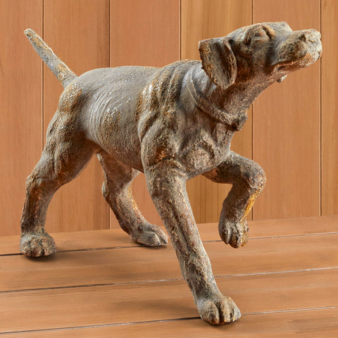 Cast Resin Pointer Hunting Dog Sculpture