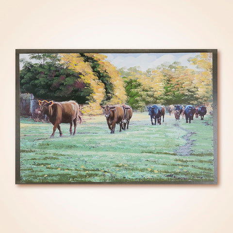 Canvas Print Wall Art, Cow Pasture