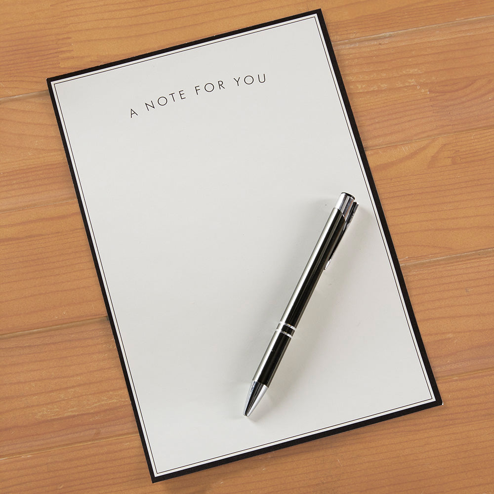 """A Note for You"" Bordered Notepad"