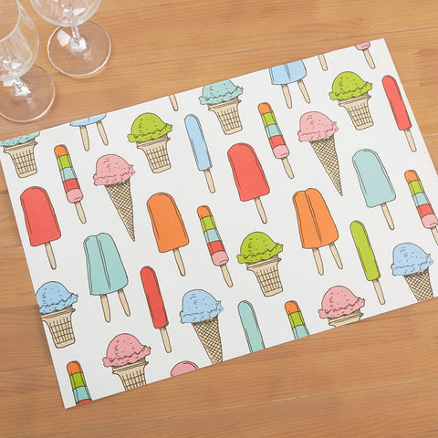 Hester & Cook Paper Placemats, Ice Cream